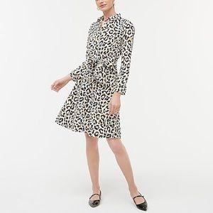 J Crew factory Leopard tie-waist shirtdress 14